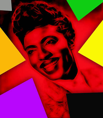Little Richard Collection Art Print by Marvin Blaine