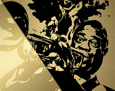 Jazz Mixed Media - Louis Armstrong Collection by Marvin Blaine