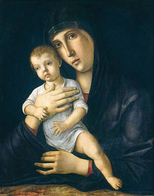 Child Jesus Painting - Madonna And Child by Giovanni Bellini