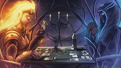 Magician Digital Art - Magic The Gathering by Super Lovely