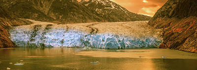 Photograph -  Magnificent Sawyer Glacier At The Tip Of Tracy Arm Fjord by Alex Grichenko
