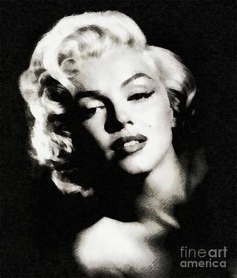 Actors Paintings - Marilyn Monroe by John Springfield by John Springfield