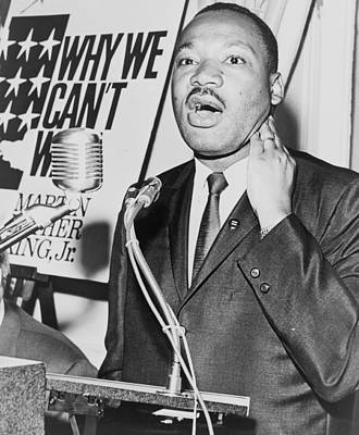 Black History Photograph - Martin Luther King Jr by American School