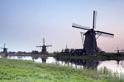 Maas Photograph - Mills In Netherlands by Andre Goncalves