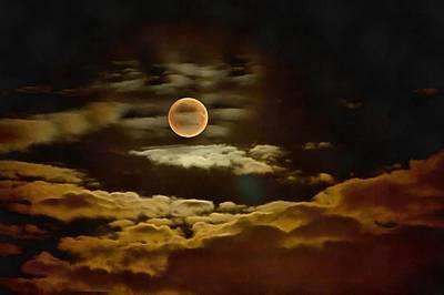Mystic Desert Painting - Moon by Vadim Pavlov