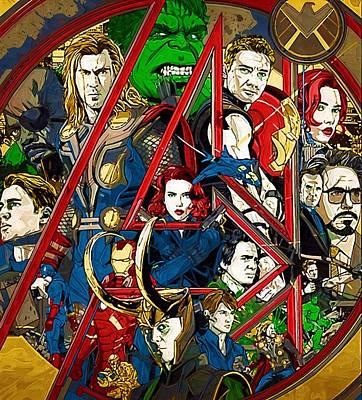 Avengers Digital Art - Movie Superhero by Egor Vysockiy