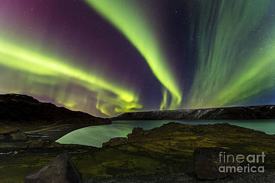 Photograph - Kleifarvatn Lake Northern Lights by Gunnar Orn Arnason