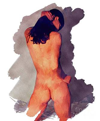 Panties Painting - Nude Study By Mb by Mary Bassett
