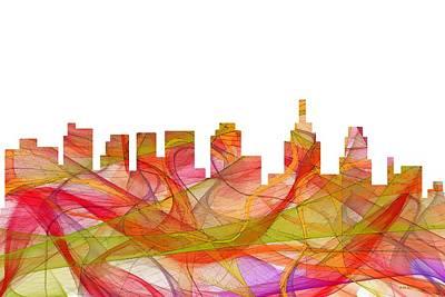 Digital Art - Philadelphia Pennsylvania Skyline by Marlene Watson