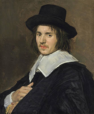 Stand Painting - Portrait Of A Man by Frans Hals