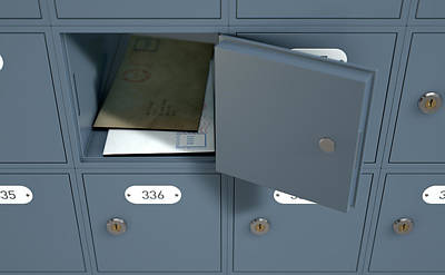 Post Office Boxes Print by Allan Swart