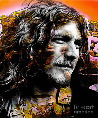 Robert Plant Collection Print by Marvin Blaine