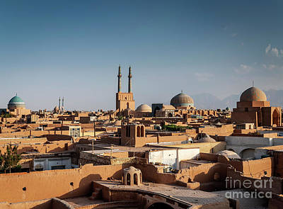 Photograph - Rootops And Landscape View Of  Yazd City Old Town Iran by Jacek Malipan