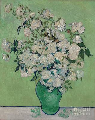 Vincent Van Gogh Painting - Roses by Celestial Images