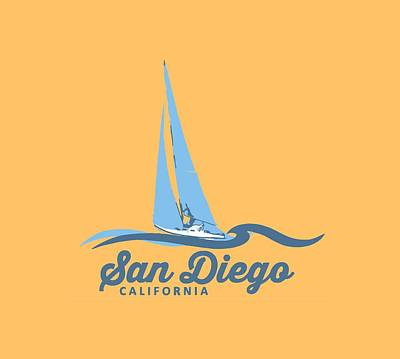 San Diego. Art Print by American Roadside