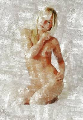 Nudes Royalty-Free and Rights-Managed Images - Self Portrait by MB by Mary Bassett