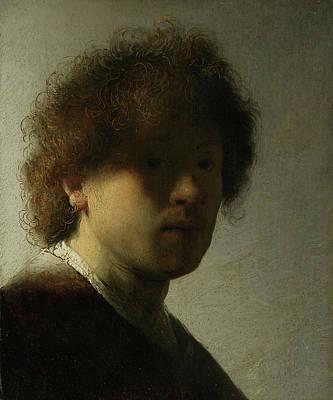 Gentleman Painting - Self-portrait by Rembrandt van Rijn