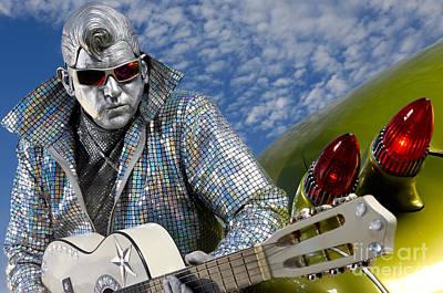 Elvis Impersonators Photograph - Silver Elvis by Oleksiy Maksymenko
