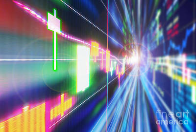 Exchange Rate Photograph - Stock Market Concept by Setsiri Silapasuwanchai