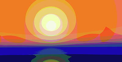 Digital Art - Sunset Colors by Angel Estevez