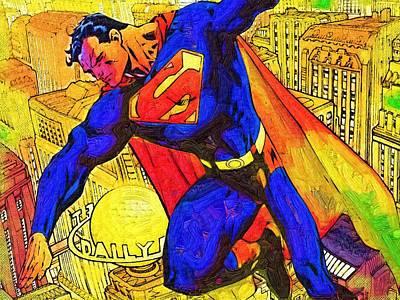 Batman Digital Art - Superman by Egor Vysockiy