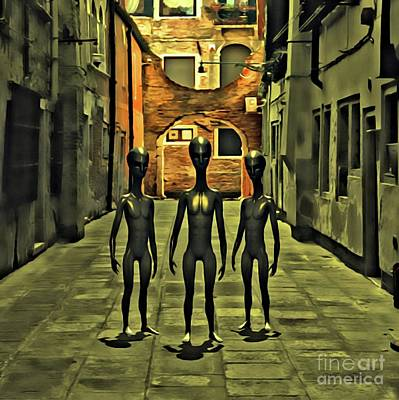 Science Fiction Royalty-Free and Rights-Managed Images - The Aliens Are Here by Raphael Terra