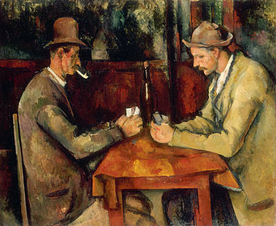 Card Painting - The Card Players by Paul Cezanne