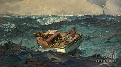 Black Man Painting - The Gulf Stream by Winslow Homer
