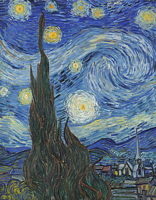 The Starry Night Art Print by Vincent Van Gogh