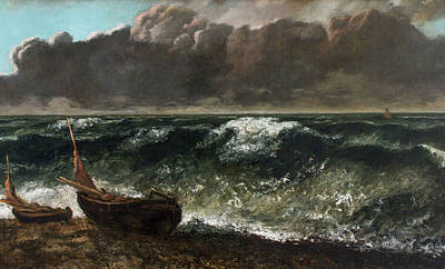 Gustave Courbet Painting - The Wave by Gustave Courbet