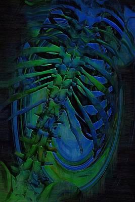 Acupressure Digital Art - Torso Skeleton by Joseph Ventura