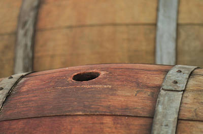 Wine Photograph - Wine Barrel by Brandon Bourdages