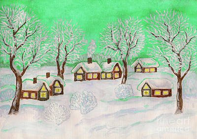 Painting - Winter Landscape, Painting by Irina Afonskaya
