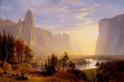 Yosemite Painting - Yosemite Valley by MotionAge Designs
