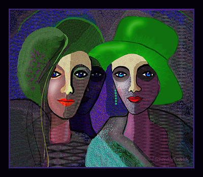 Digital Art - 1300 - Ladies Red Red Lips 2017 by Irmgard Schoendorf Welch
