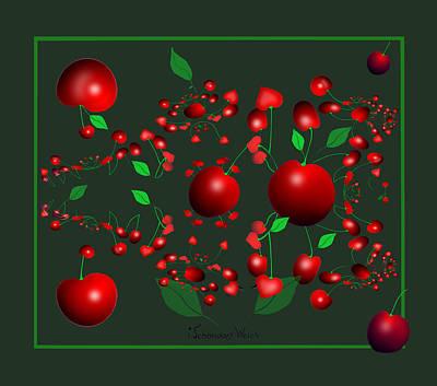 Painting - 1301 - Cherries by Irmgard Schoendorf Welch