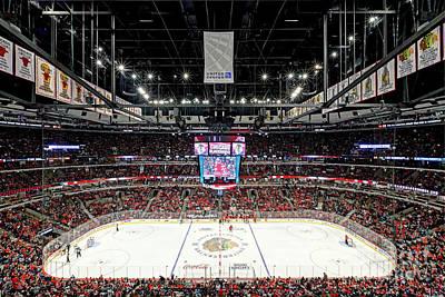 1305 United Center Chicago Blackhawks Art Print