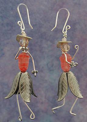 Jewelry - 1309 Orange Hattitudes by Dianne Brooks