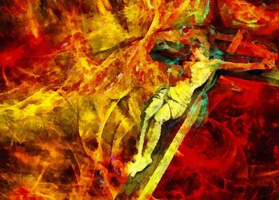 Icon Digital Art - Jesus Christ - Religious Art by Elena Kosvincheva