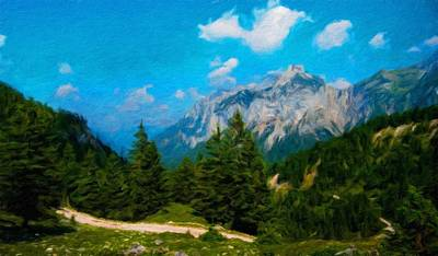 Forest Painting - Nature Work Landscape by Margaret J Rocha