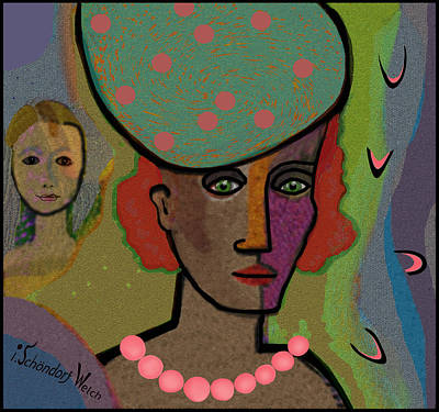 Painting - 1311 The  Pink Pearls V by Irmgard Schoendorf Welch