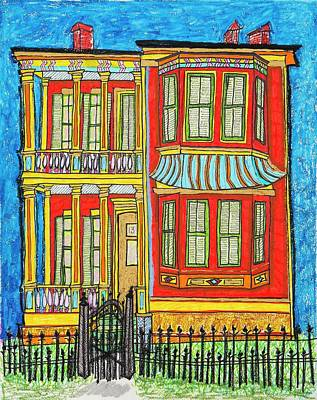 Spindles Painting - 1312 First Street by Aleta Kim Lawton