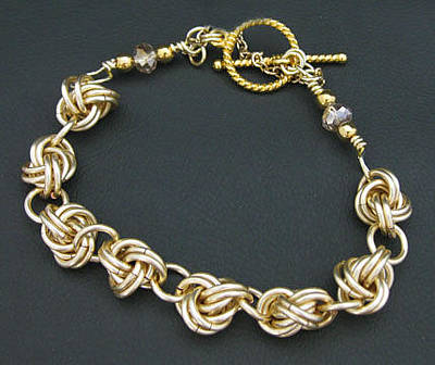 Jewelry - 1313 Champagne Knot by Dianne Brooks
