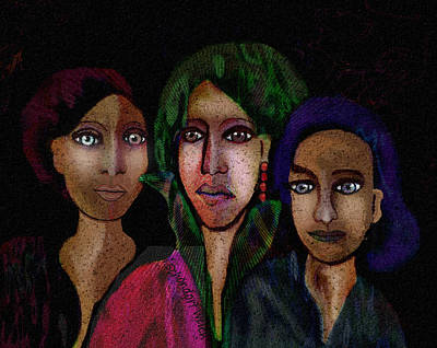 Painting - 1313 There Are Ghostlights In Their Eyes A by Irmgard Schoendorf Welch