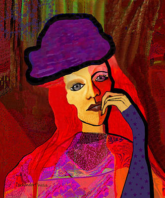 Painting - 1314 - Redhaired Woman by Irmgard Schoendorf Welch