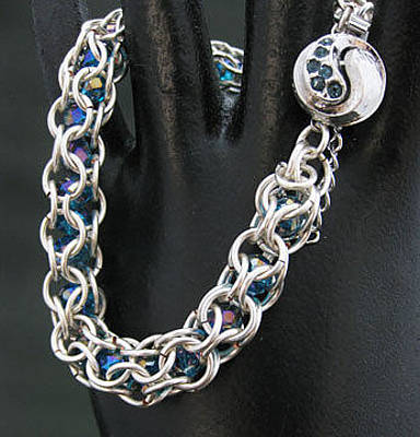 Jewelry - 1314 Ying/yang  Silver Teal by Dianne Brooks