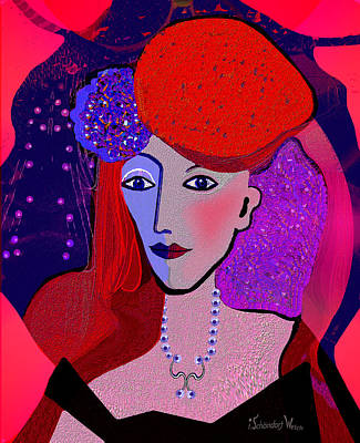 Digital Art - 1322 - One Day I Will Be Queen Of England 2017 by Irmgard Schoendorf Welch