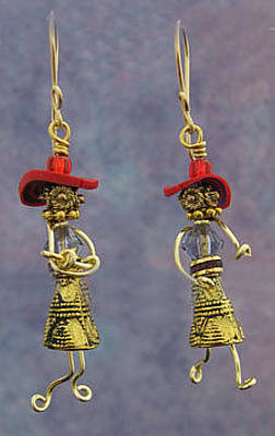 Jewelry - 1326 Red Hattitudes by Dianne Brooks