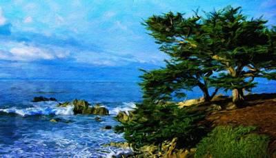 Tree Painting - Nature Landscape Lighting by Margaret J Rocha