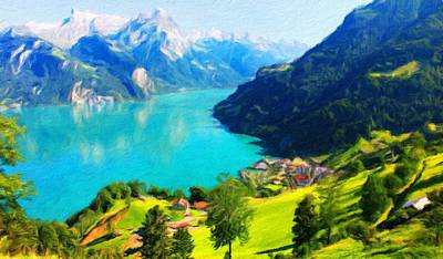 Spring Painting - Nature Landscape Pictures by Margaret J Rocha
